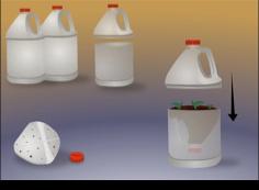 como hacer un mini invernadero casero con botellas de plastico